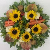 Flower and Vegetable Wreath